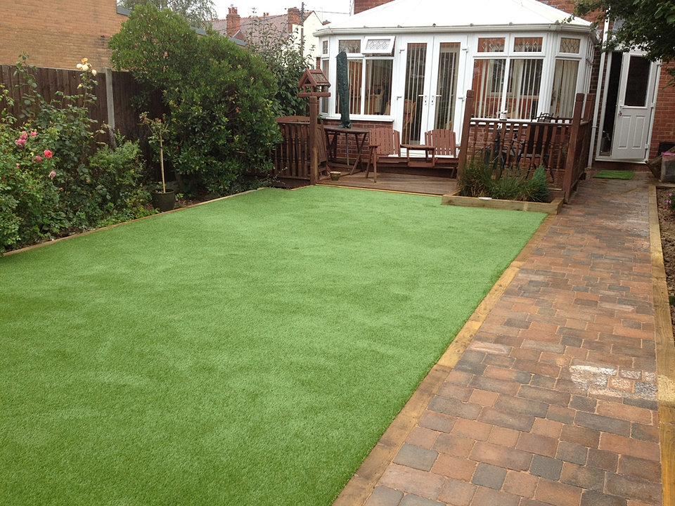 Block paving Artificial Grass