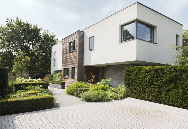 Modernes Haus Einfamilienhaus Hausdesign Architektur Planung Fassade