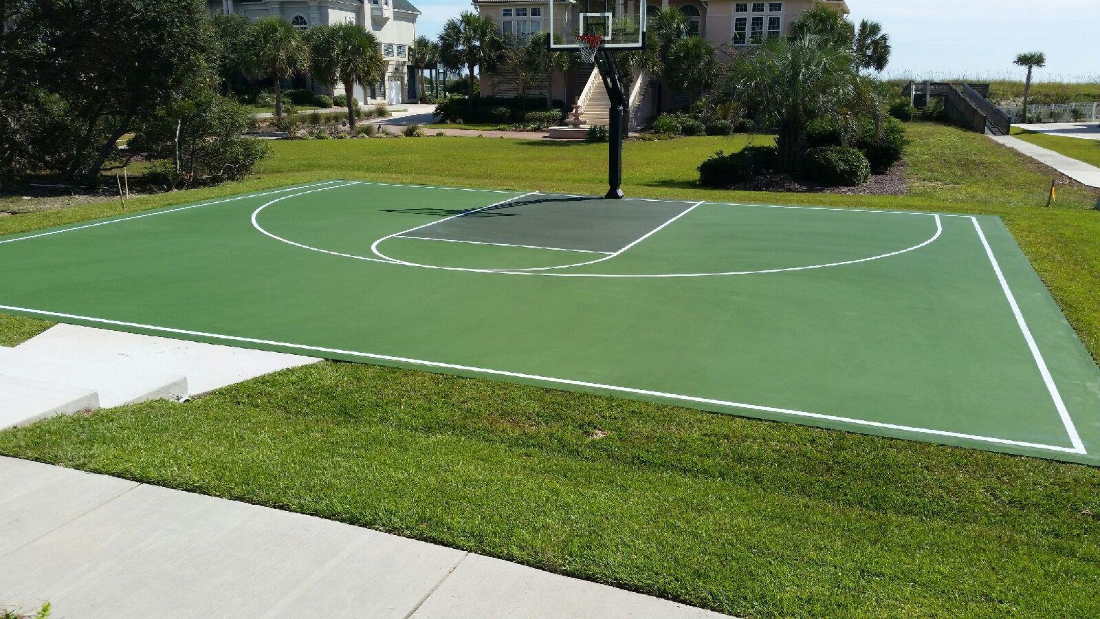 new myrtle beach sc backyard basketball court mtj sports south
