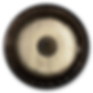 A photo of a gong with the Earth symbol in the center