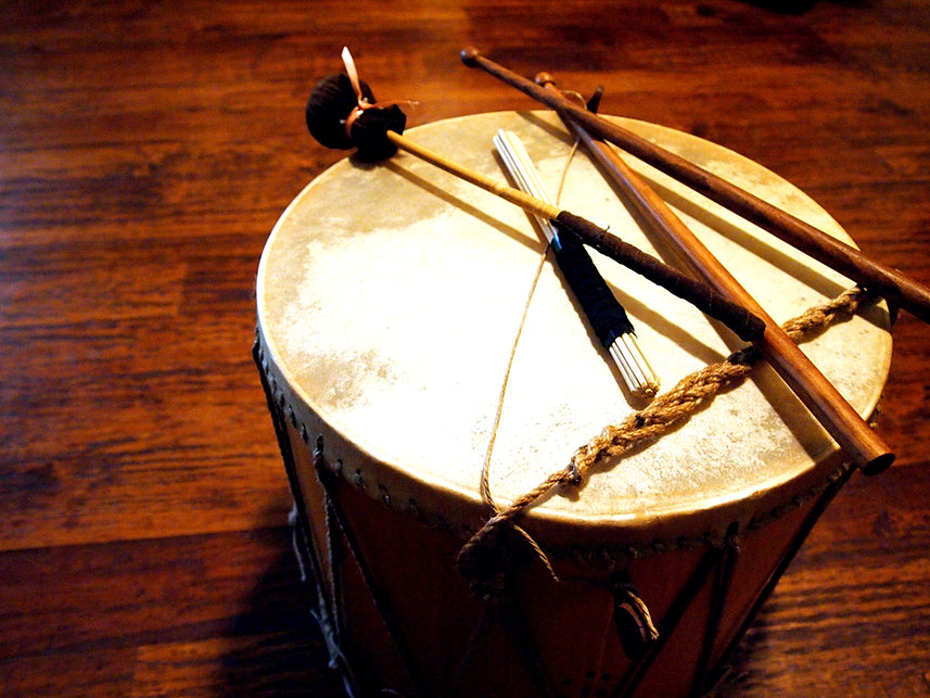 Drum With Mallets