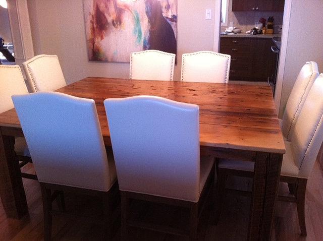 vieille planche meubles bois de grange quebec demolition table la hemlock. Black Bedroom Furniture Sets. Home Design Ideas