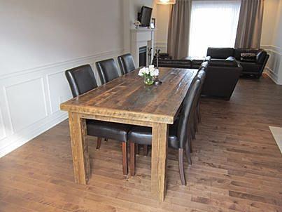 vieille planche meubles bois de grange quebec demolition table la campagnarde. Black Bedroom Furniture Sets. Home Design Ideas