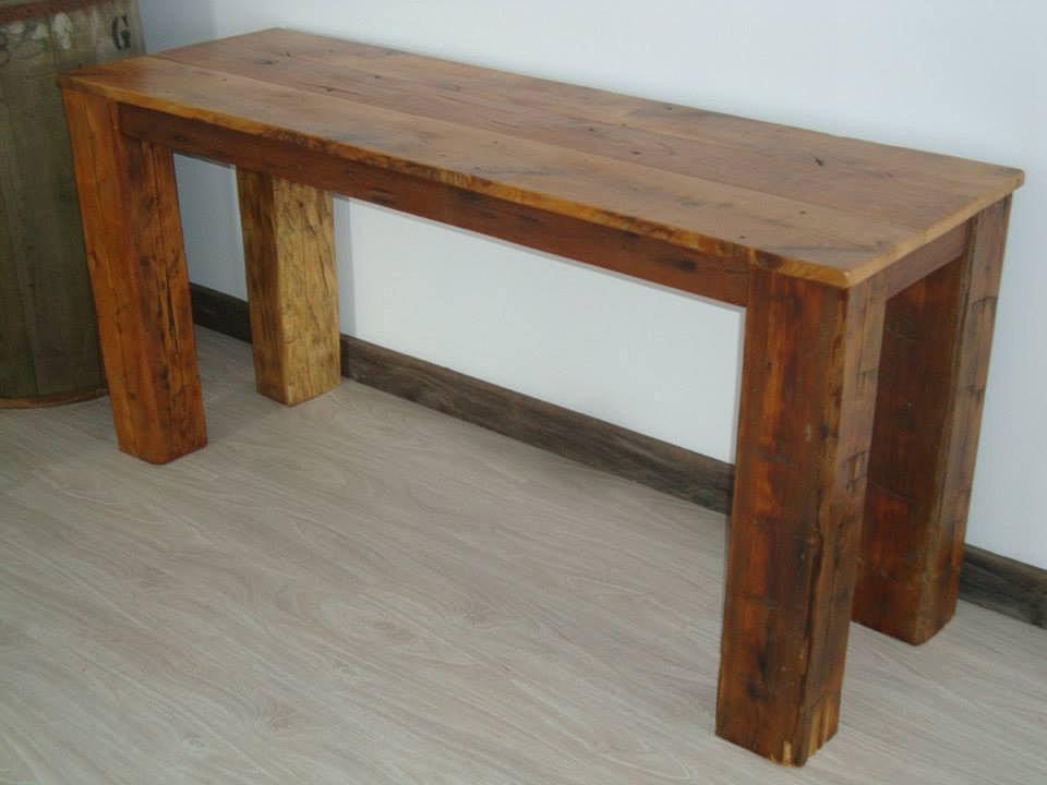 Vieille planche meubles bois de grange quebec for Modele de console meuble