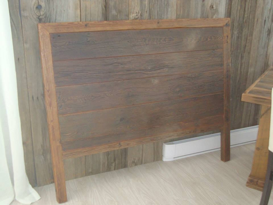 Vieille planche meubles bois de grange quebec - Rehausseur pieds de lit en bois ...