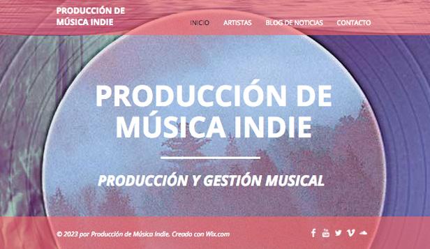 Producción de música Indie