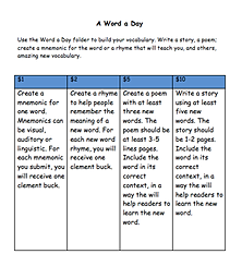 Clement bucks & worksheets