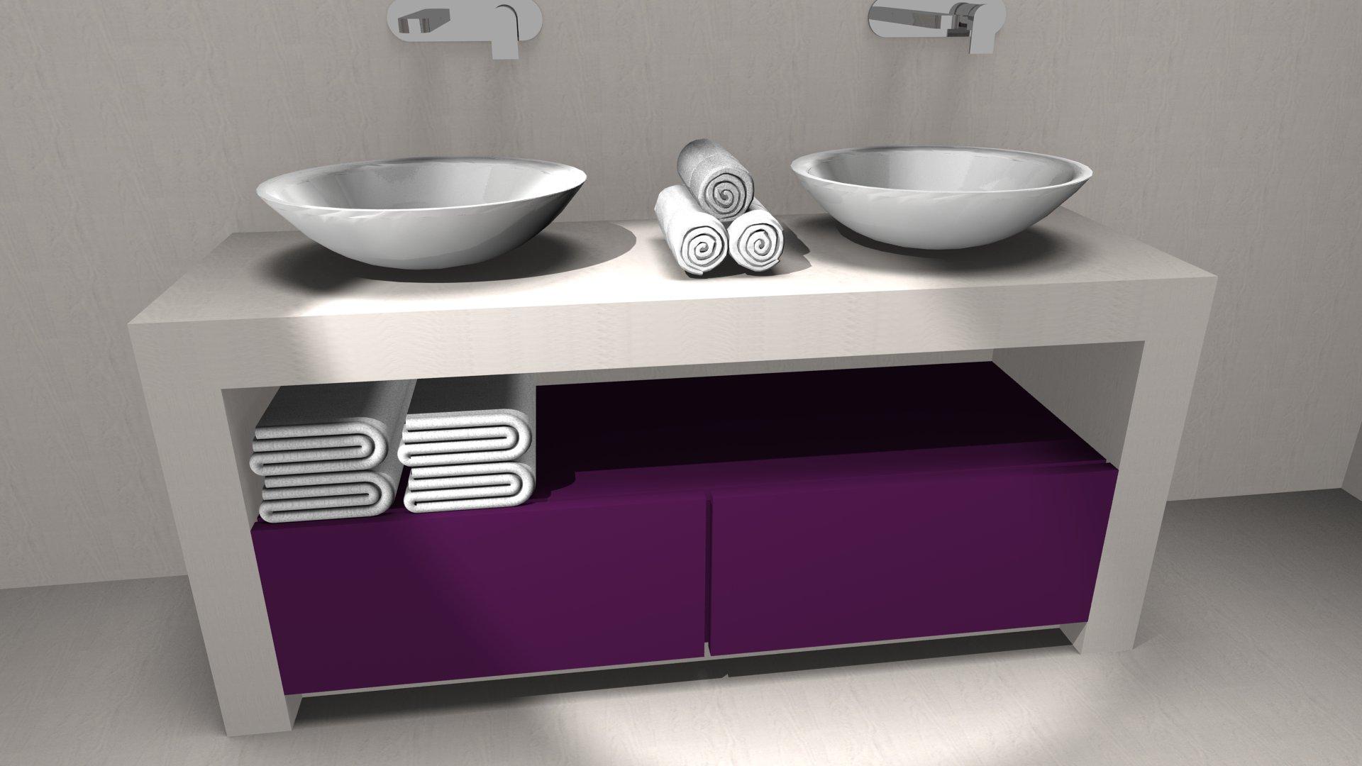 Mobili e accessori per l 39 arredobagno verona - Piano d appoggio per lavabo ...