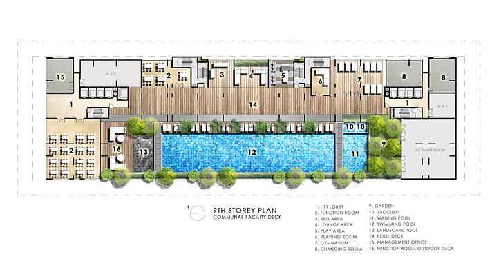 theskyline pool deck site plan