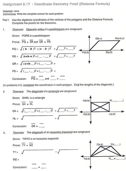 Worksheets Coordinate Geometry Distance Formula Worksheet distance formula coordinate geometry worksheets intrepidpath proof formula