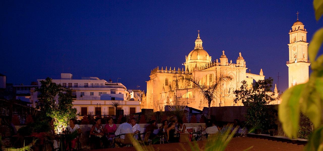 Ba os arabes jerez hammam andalusi cadiz m s que un spa en jerez view to the cathedral - Banos arabes en jerez ...