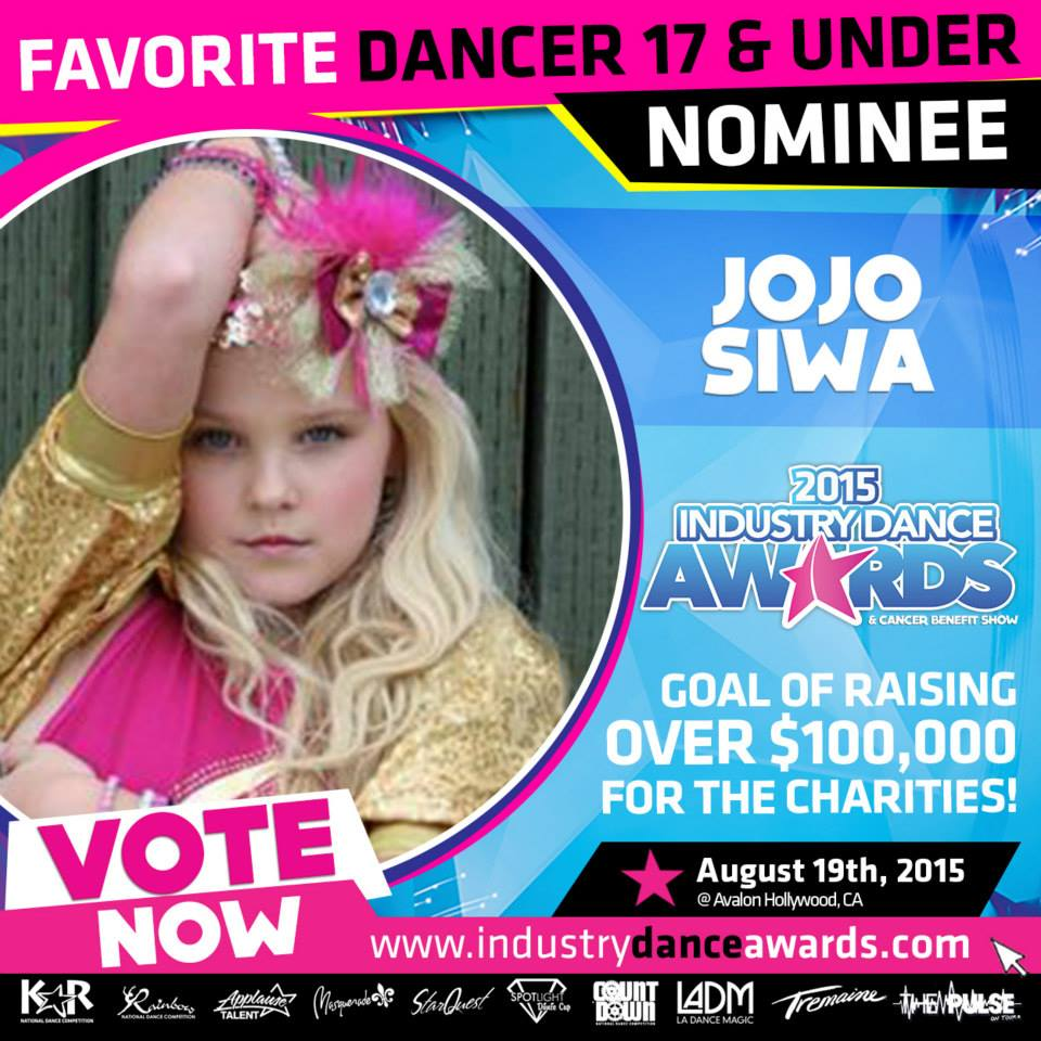 Jojosiwaofficialsite jojo is nominated for favorite dancer 17 under at the industry dance awards the idas is one of the biggest dance events of the year and will be held at kristyandbryce Image collections