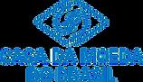 Logotipo da casa da moeda do brasil, texto e marca em azul