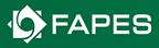 Logotipo da Fapes escrita em letras brancas em um fundo retangular verde