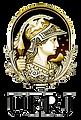 Logotipo da UFRJ, texto em preto com a logomarca da universidade