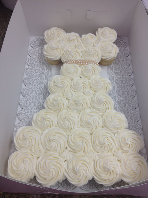 Forever sweet bakery cake tab for Wedding dress cupcake cake