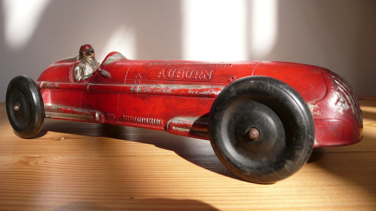 """Carro de corrida de borracha anos 40 """"Auburn"""""""