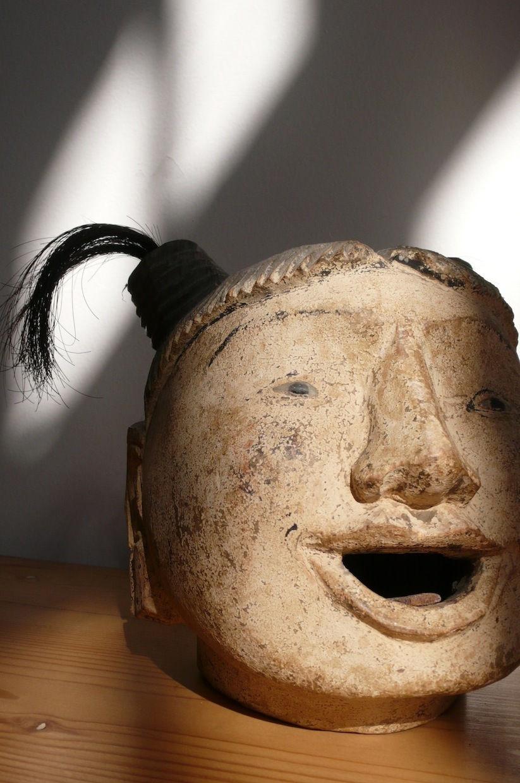 Cabeça Birmanesa de marionete de madeira