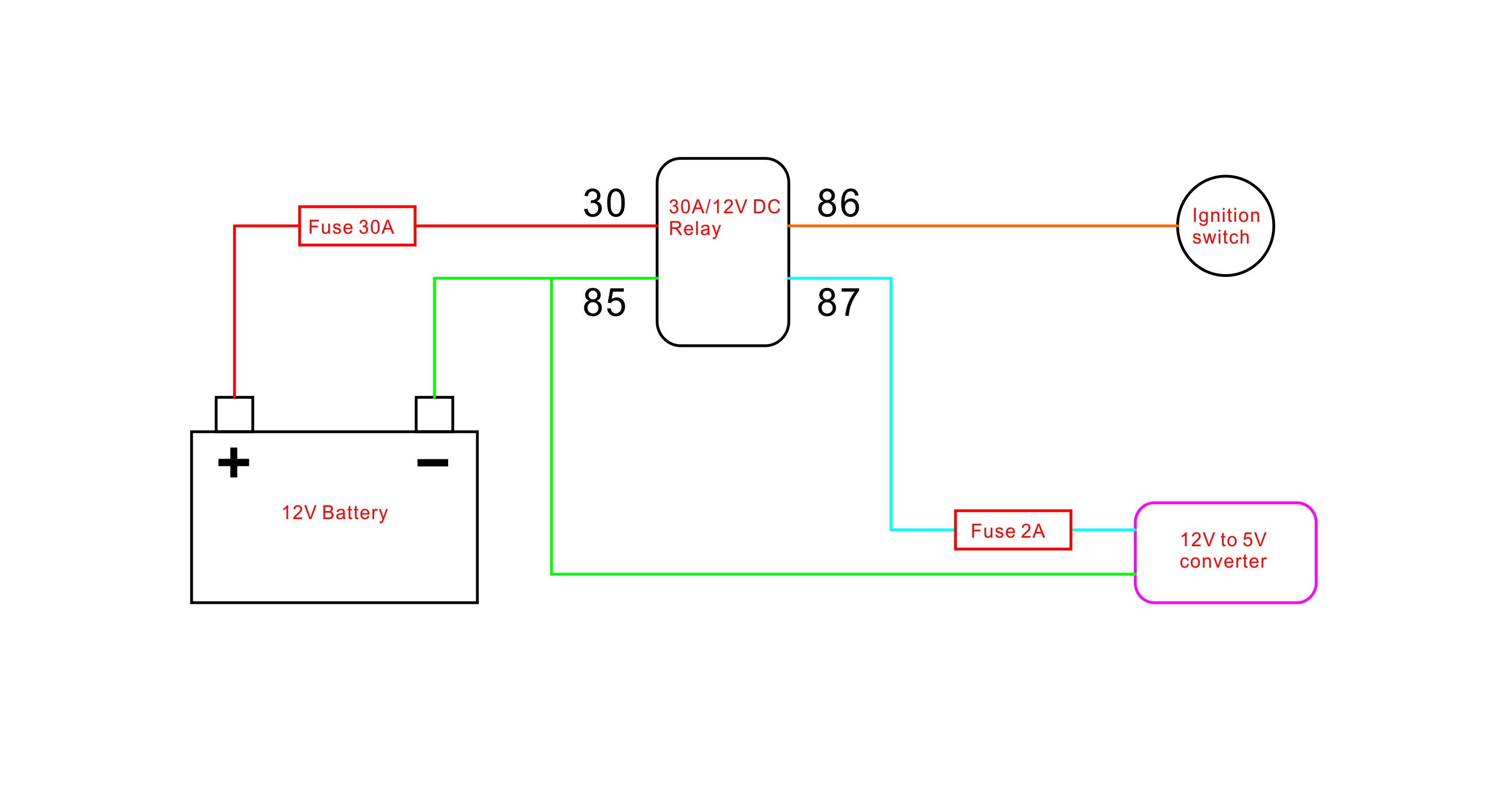 wiring diagrams negative and positive switching positive