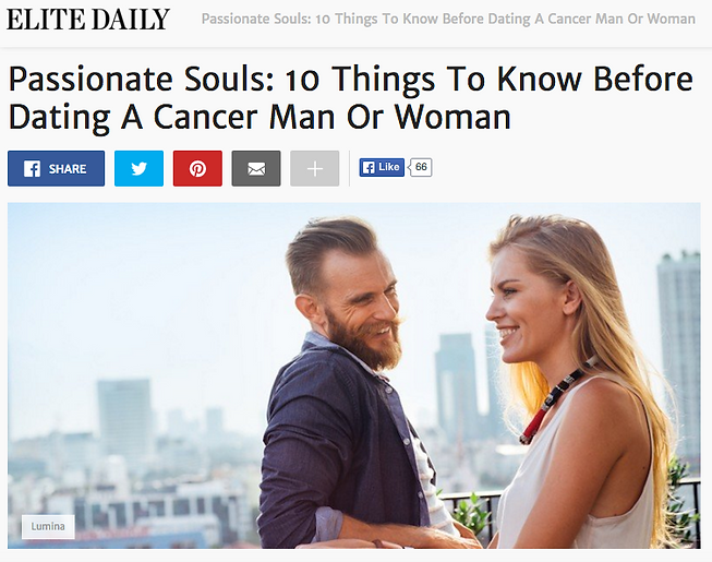 What To Expect When Dating A Cancer Man