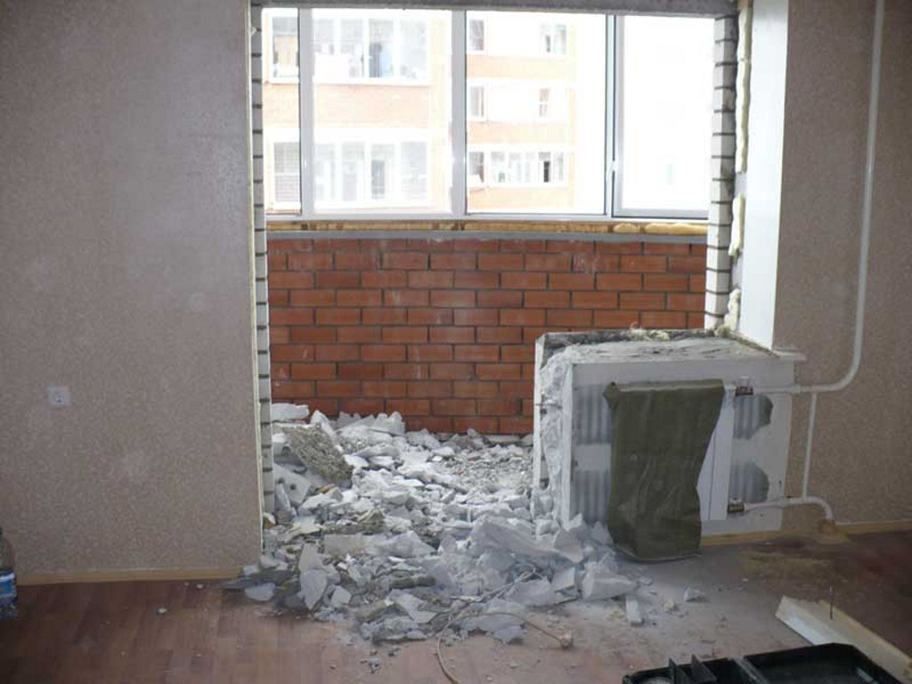 Демонтажные работы - демонтаж стен и перегородок еврострой с.