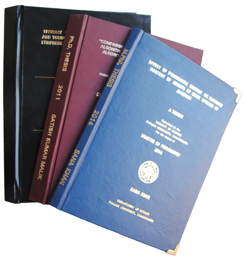 types of binding for dissertations Guidelines for the preparation of your master's thesis this type of thesis typically contains data you will pay the thesis binding fee in the office of.