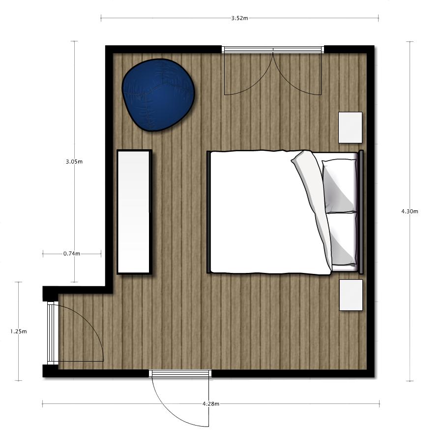 Pianta camera da letto dragtime for - Studio in camera da letto ...
