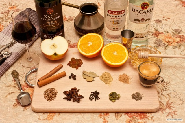 рецепт приготовления глинтвейна фото