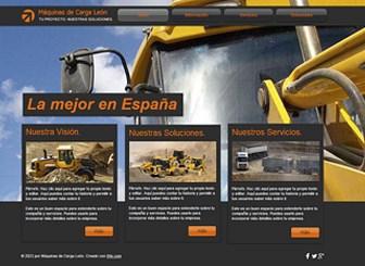 Máquinas de carga Template - Lleva a tu empresa de construcción online con esta llamativa plantilla web. Promociona tus servicios y tarifas al agregar texto y sube tus propias fotos. ¡Comienza a editar para crear una página web que represente a tu empresa!