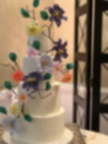 Gorgeous wafer paper and buttercream cak