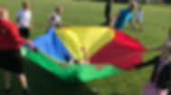 Parachute Children Playing