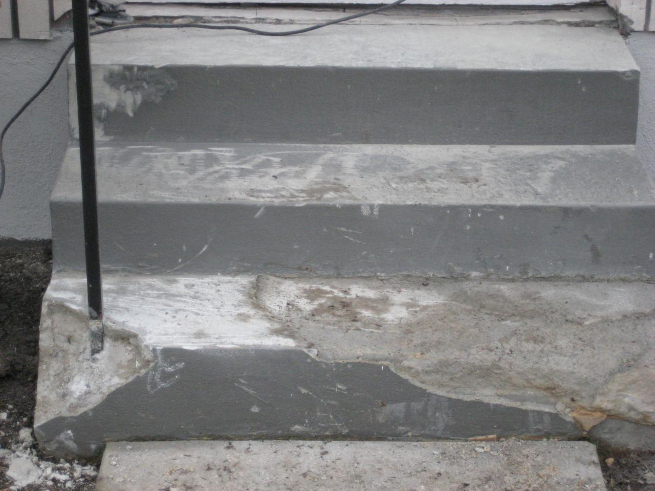 Crumbling steps minneapolis concrete repair minneapolis - Resurfacing exterior concrete stairs ...