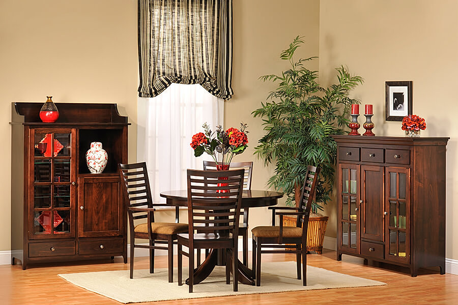 The amish home furniture gallery lexington shaker dining furniture - Shaker dining room furniture ...
