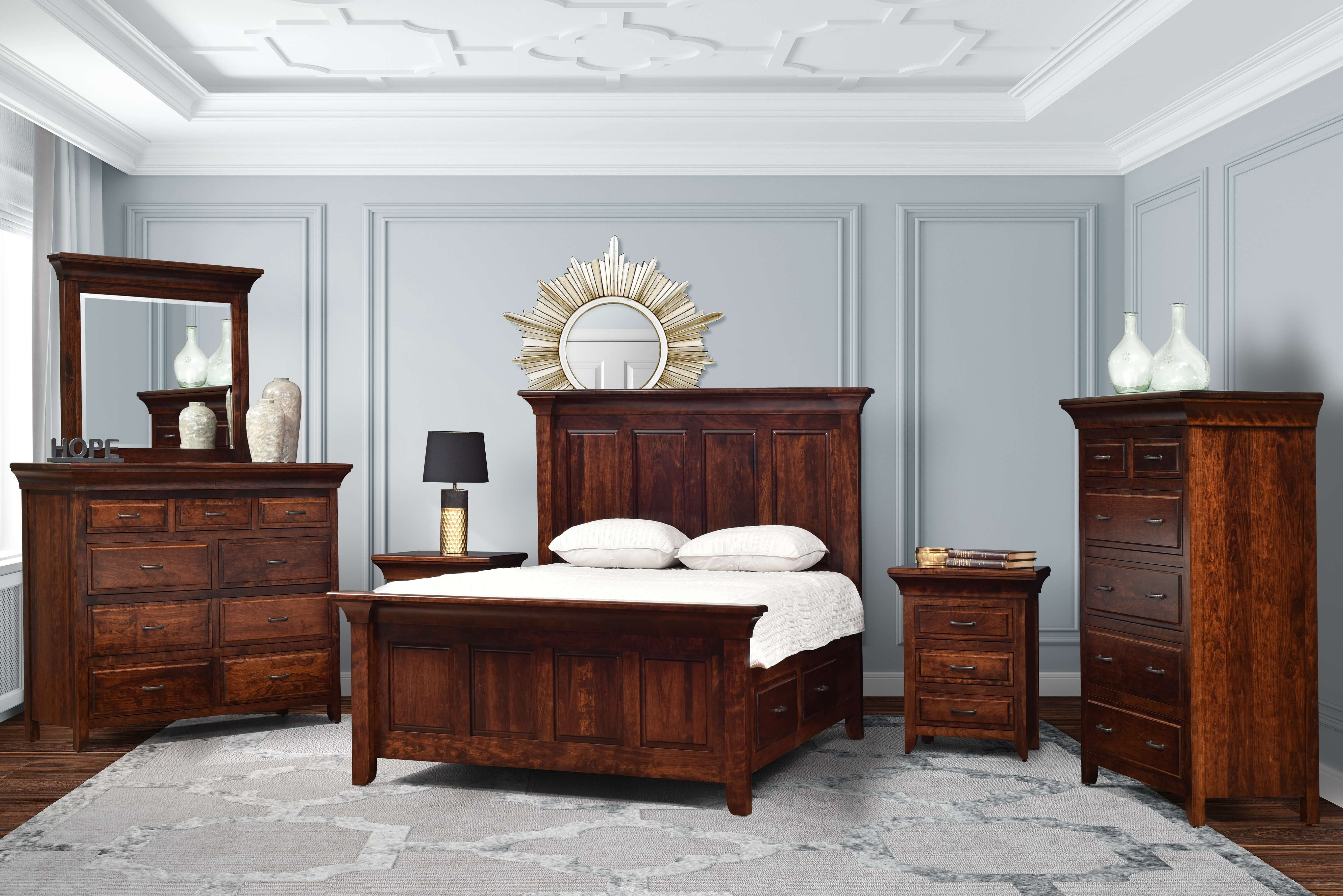 Solid Wood Bedroom Furniture Made In Usa The Amish Home Celebrating 15 Years Of Hardwood Furniture
