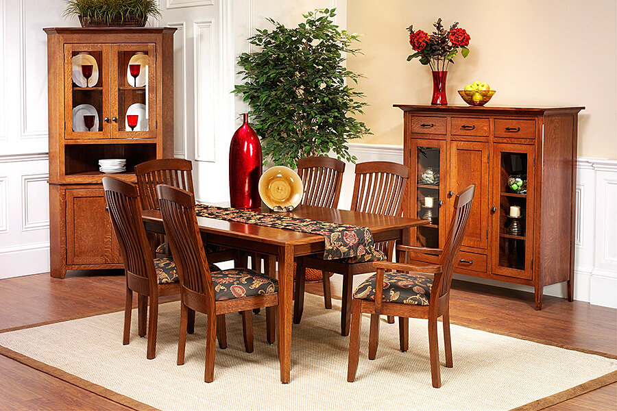 The Amish Home Furniture Gallery|Newport Shaker Dining Room Furniture