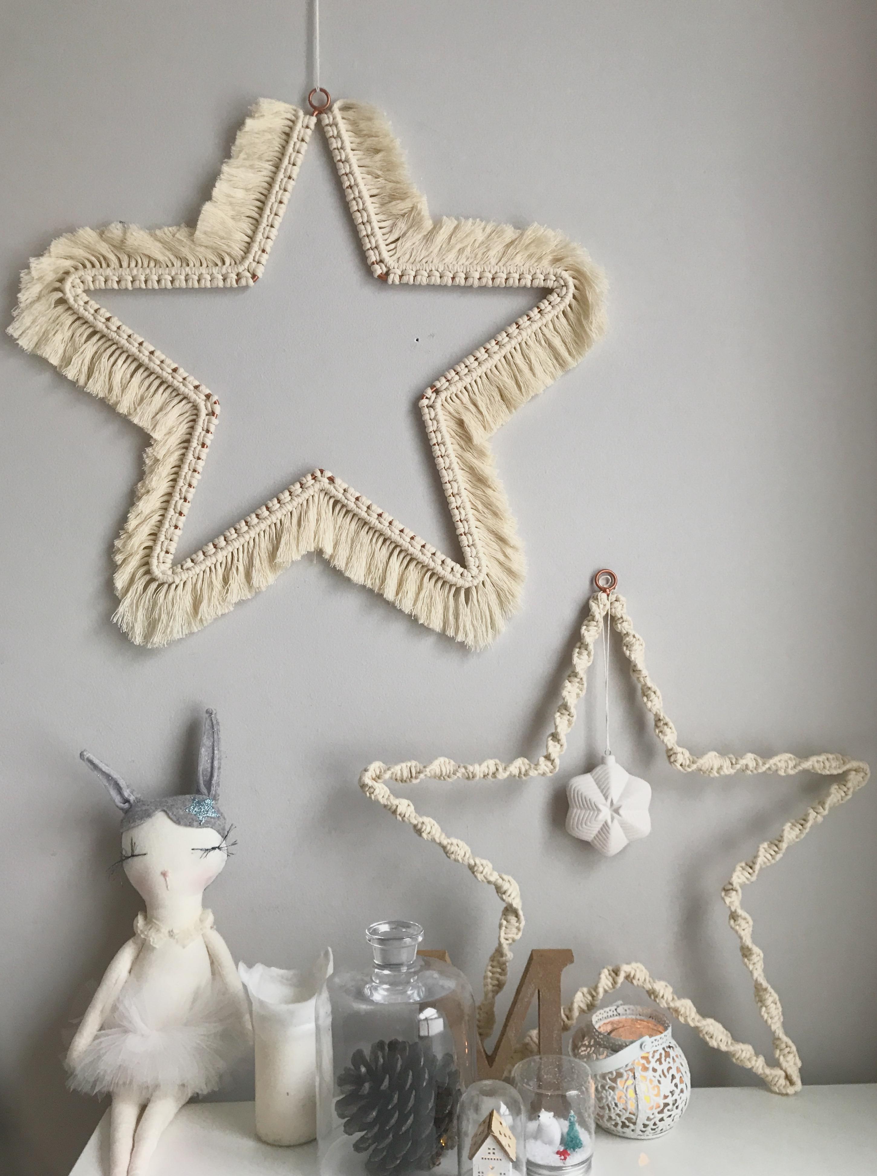 Macrame Christmas Stars