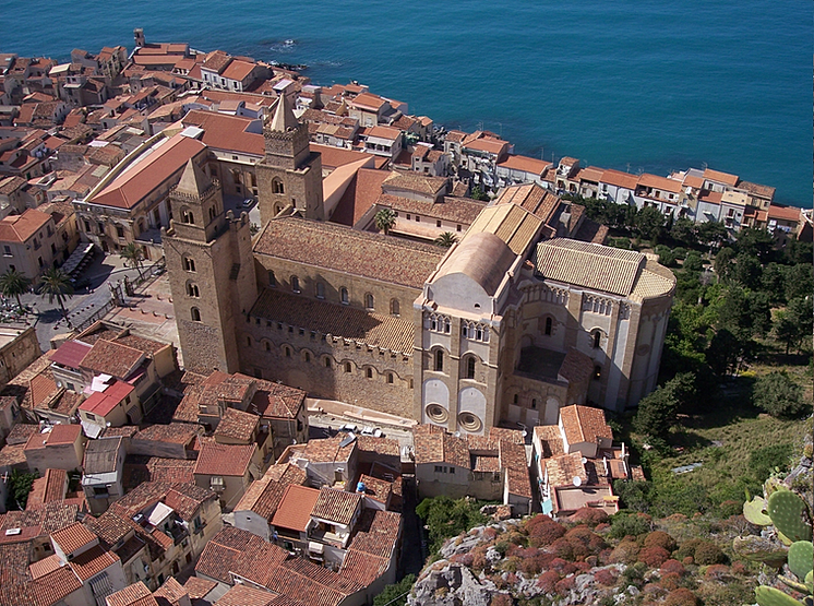 Cathedral of Cefalù Aerial View