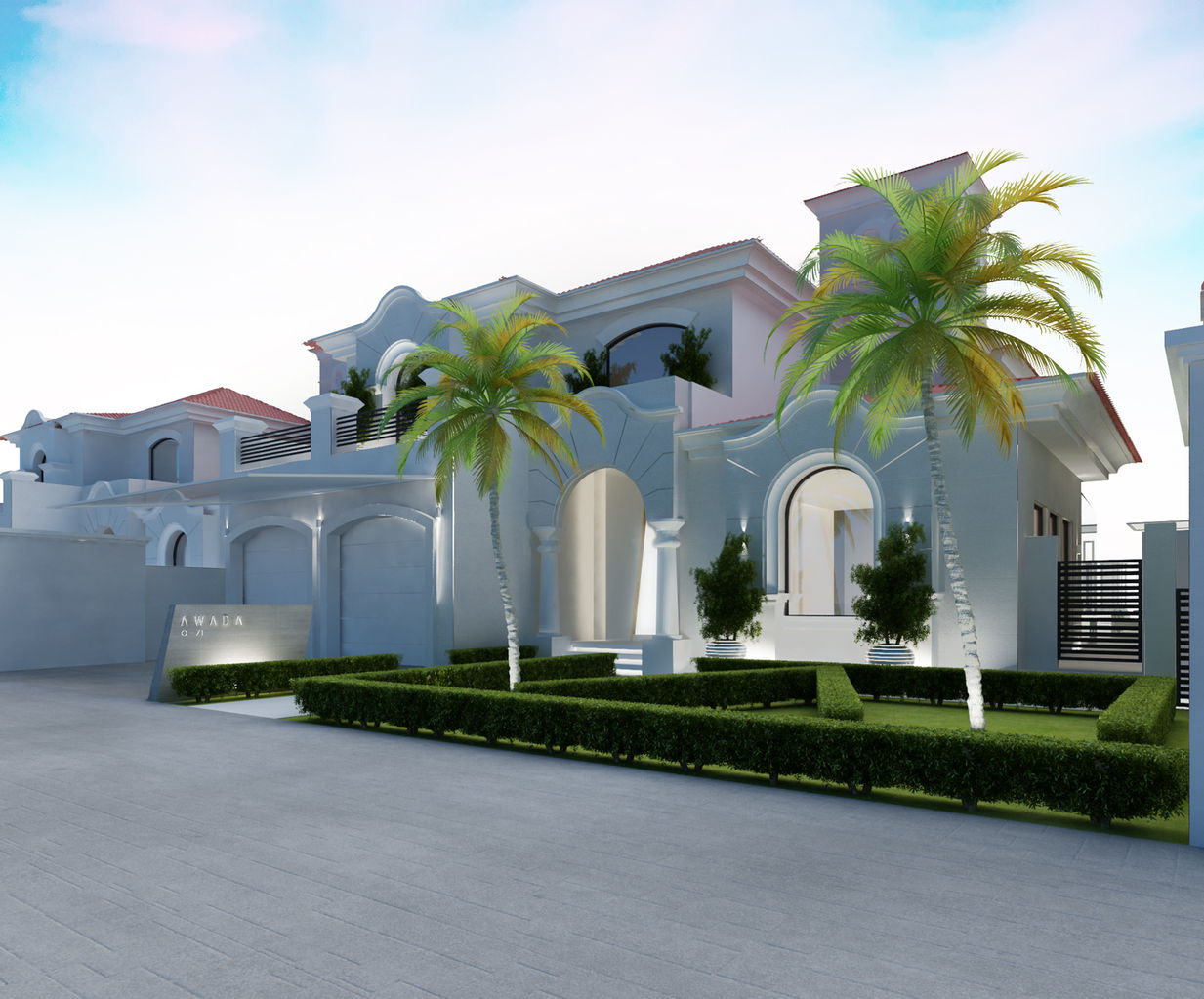 Ions design interior design dubai interior designer uae for Villas exterior design pictures