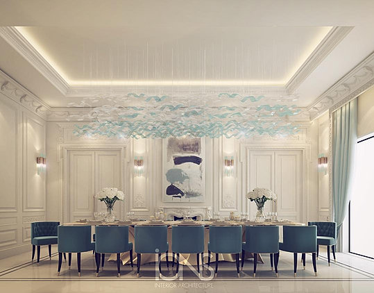 Ions luxury interior design dubai interior design for Dining room in arabic
