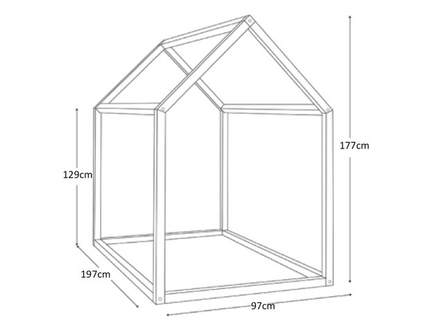 diy le lit cabane inspiration montessori happee. Black Bedroom Furniture Sets. Home Design Ideas