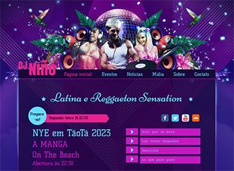 DJ Latino Template - Um template grátis, com cores vibrantes e design arrojado para promover seu ritmo. Anuncie eventos e faça upload de trilhas e vídeos para dar aos internautas uma amostra do seu som. Ponha seu site na rede e que comece a festa!