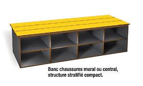 banc stratifié  compact CABSAN FRANCE - bancs pour collectivité