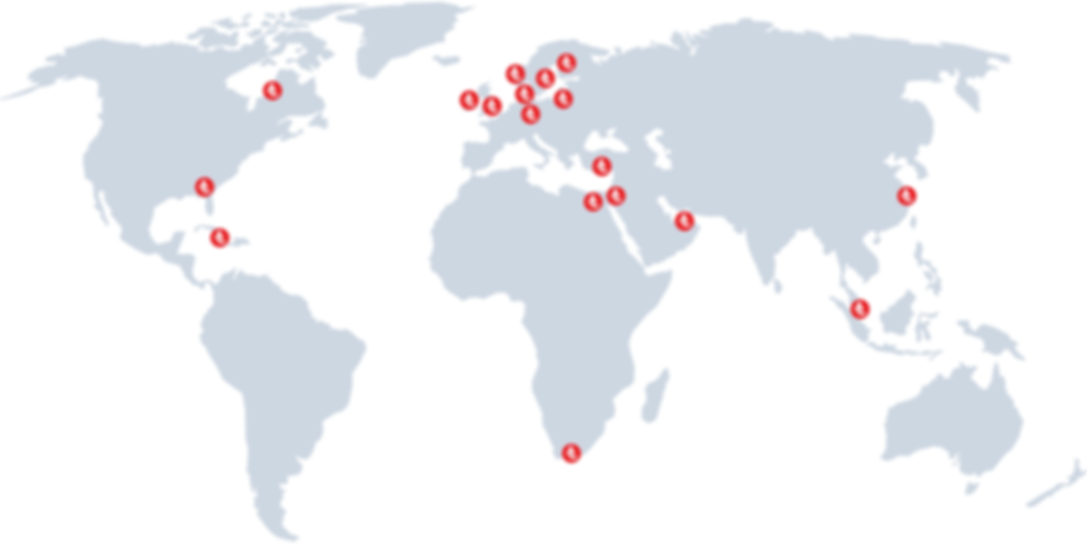 Acrylicon locations, world map, contact
