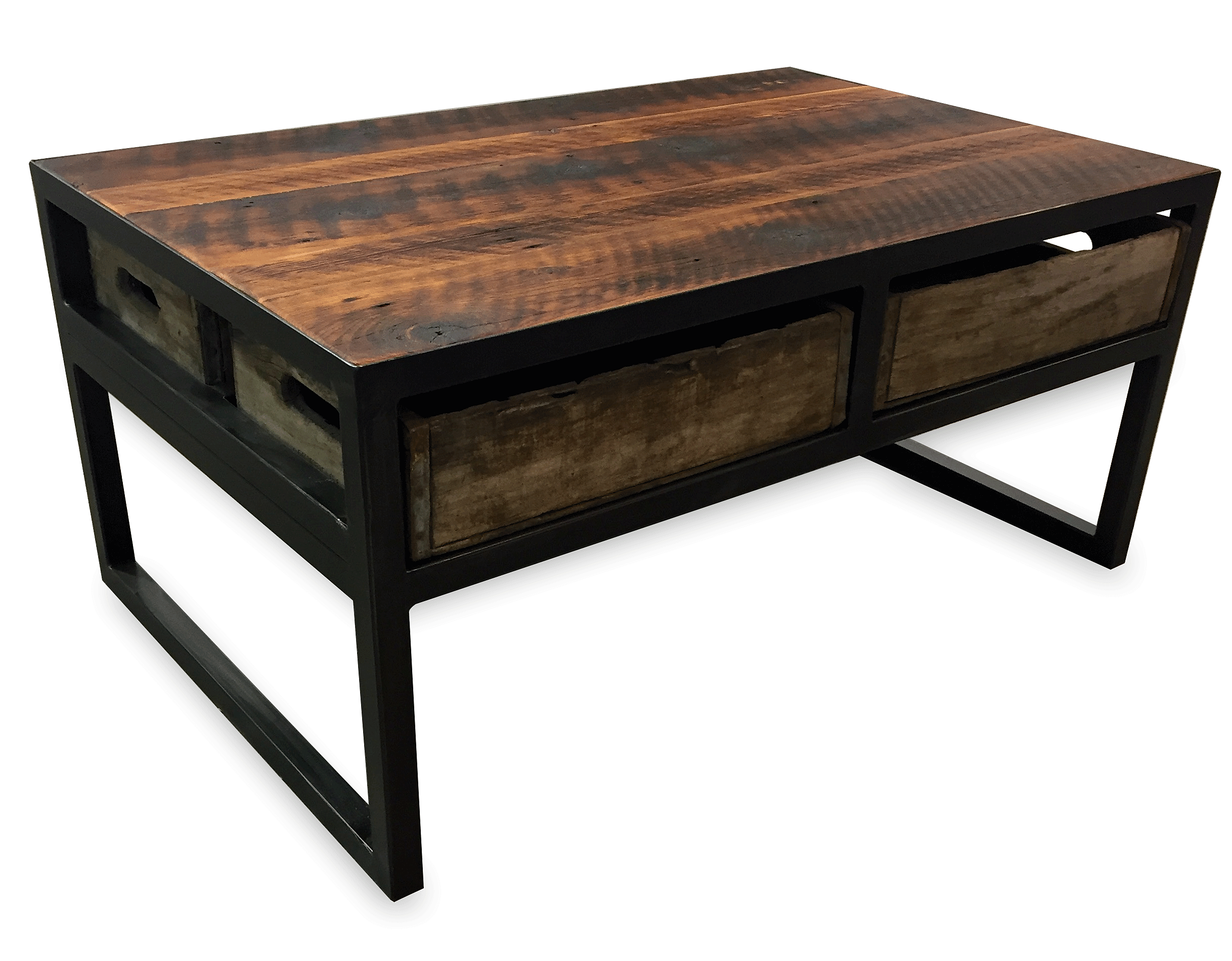 Montana Angle Worx Refined Industrial Furniture Crate Coffee Table 2
