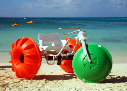 water bike on the beach