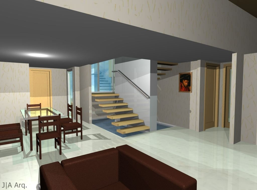 J a arq estudio de arquitectura for Escaleras de sala