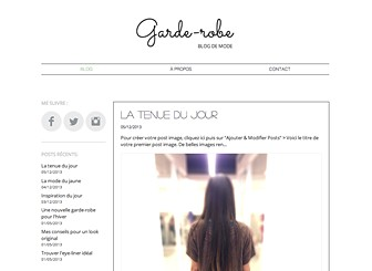 Blog Mode Template - Pensé et conçu pour les blogueurs de mode, ce template aux couleurs claires et aux polices élégantes mettra en valeur votre contenu. Ajoutez des vidéos, des textes et des images pour partager vos articles sur la beauté, les défilés et les nouvelles collections de vos créateurs préférés. Personnalisez la mise en page et les couleurs en fonction de la mode du moment et de l'humeur du jour !