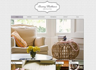Interior Decorating Template - With elegant fonts and classic style, this free template is perfect for your architecture, interior design, or boutique service company. Numerous photo galleries let you show off your projects and inspirations while the space for text lets you tell the story of your business. Use the Blog page to keep your followers up to date on your latest activities.