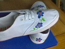 Zapatillas con flores