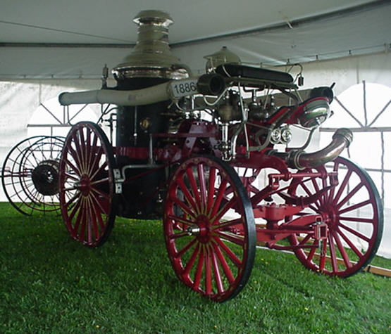 1885 hore drawn steam engine